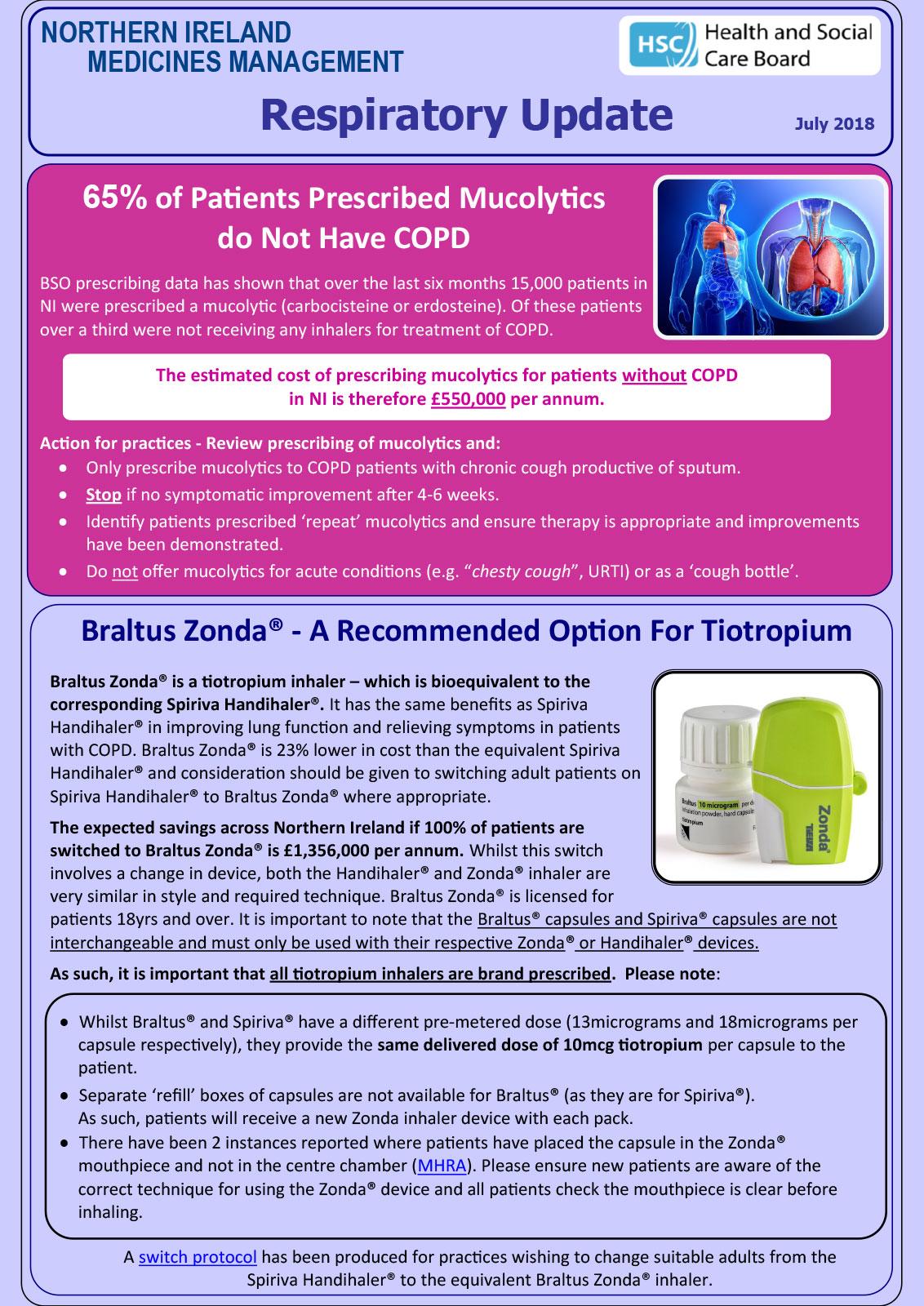 NORTHERN IRELAND MEDICINES MANAGEMENT Respiratory Up